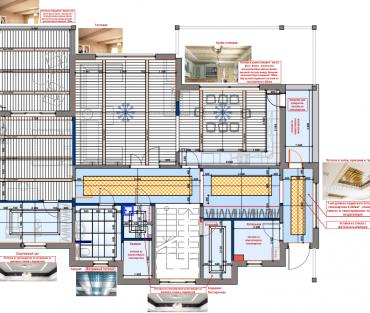 Рис. 3. План потолка 1 этажа